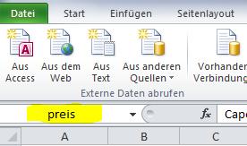 Excel Formel SVERWEIS